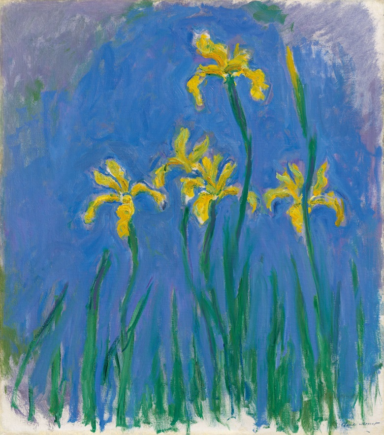 Claude Monet (1840-1926), Iris, 1918-1925. Oil on canvas. 39⅛ x 34½ in (99.4 x 87.5 cm). Estimate £4,000,000-6,000,000. Offered in Hidden Treasures on 27 February 2019 at Christie's in London