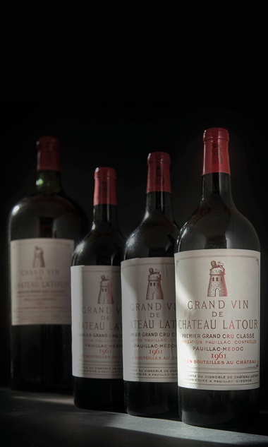 Château Latour 1961, 3 magnums per lot. Sold for £55,200 on 28-29 November 2018 at Christie's in London