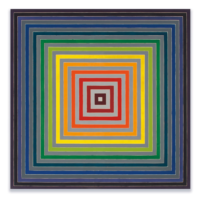 Frank Stella (b. 1936), Lettre sur les aveugles I, 1974. Acrylic on canvas. 141 x 141 in (358.1 x 358.1 cm). Estimate $5,500,000-7,500,000. Offered in the Post-War and Contemporary Art Evening Sale on 15 May 2019 at Christie's in New York