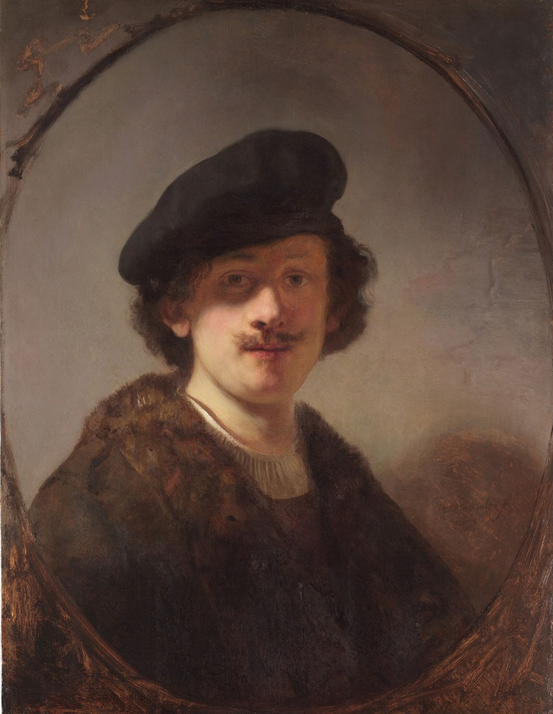 Rembrandt van Rijn, Self-Portrait with Shaded Eyes, 1634. Oil on panel. The Leiden Collection, New York. Image courtesy of The Leiden Collection, New York