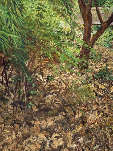Lucian Freud (1922-2011), Painters Garden, 2003. Oil on canvas, 24⅛ x 18⅛ in (61.3 x 46 cm). Sold for $5,950,000 in the Post-War and Contemporary Art Evening Sale on 15 May at Christie's in New York