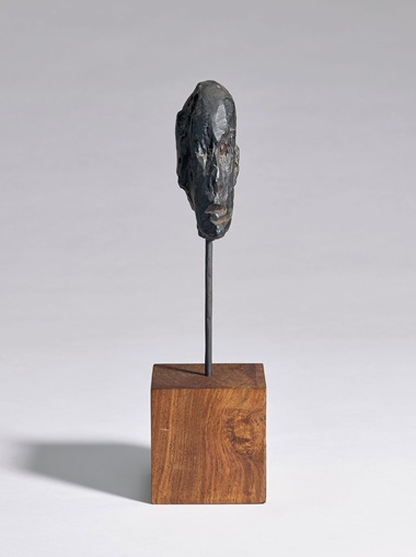 Alberto Giacometti (1901-1966), Tête dhomme, 1948-1950. Bronze with dark brown patina, 8⅜ in (21 cm). Sold for $187,500 in the Impressionist and Modern Art Evening Sale on 13 May at Christie's in New York