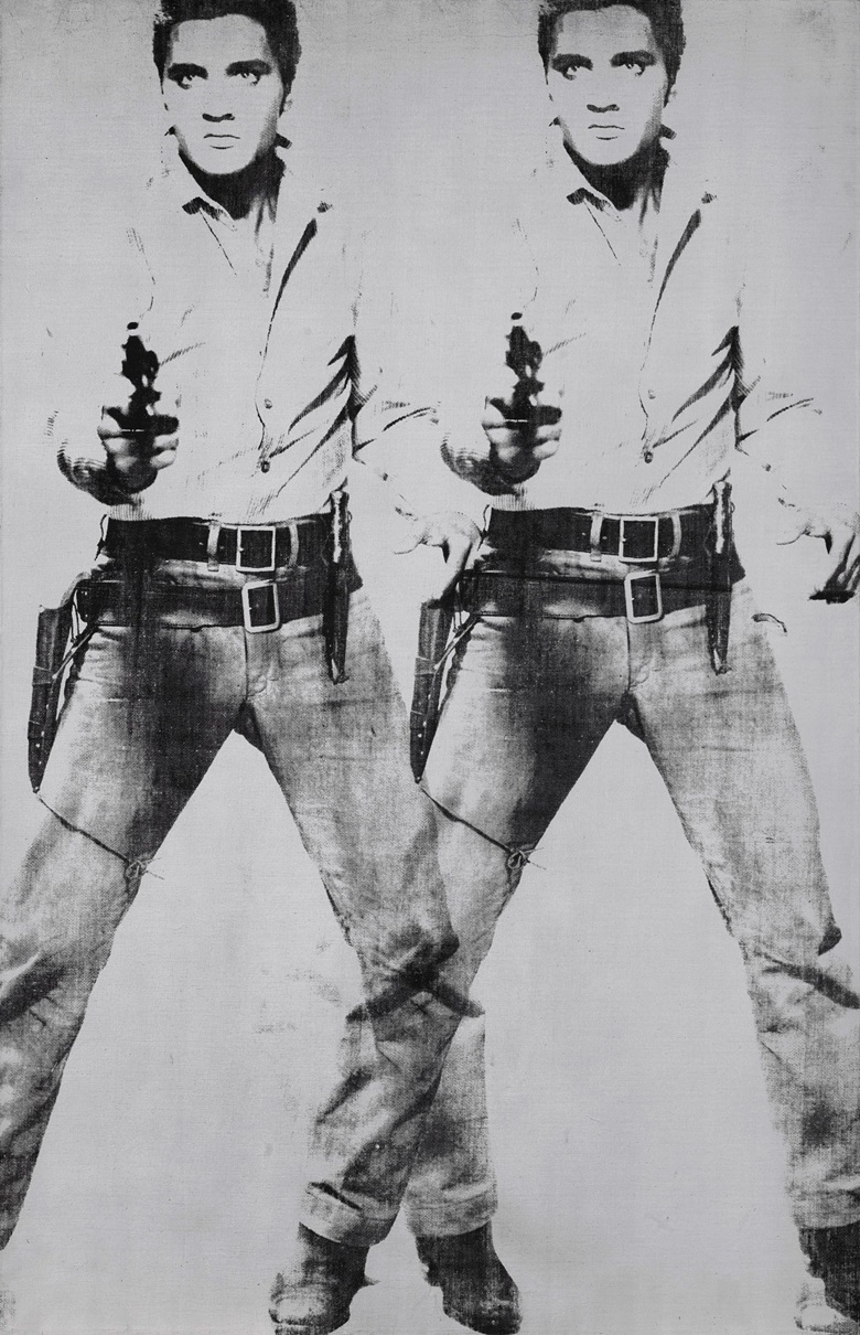 Andy Warhol (1928-1987), Double Elvis [Ferus Type], 1963. Silkscreen ink and silver paint on linen. 81 7⁄8 x 52 3⁄4 in (208 x 134 cm.) Sold for $53,000,000 in the Post-War and Contemporary Art Evening Sale on 15 May at Christie's in New York. Artwork © 2019 The Andy Warhol Foundation for the Visual Arts, Inc.  Licensed by Artists Rights Society (ARS). Elvis Presley™;