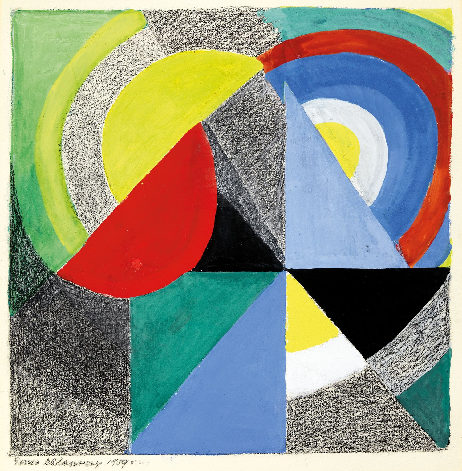 Sonia Delaunay (1884–1979), Rythme coloré, 1959. Estimate $50,000–70,000. This work is offered in the Impressionist & Modern Art Works on Paper sale on 14 May at Christie's in New York.