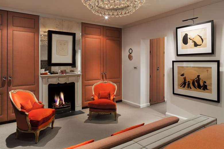 TM Lighting was commissioned to install Picture Lighting in this show flat in Knightsbridge