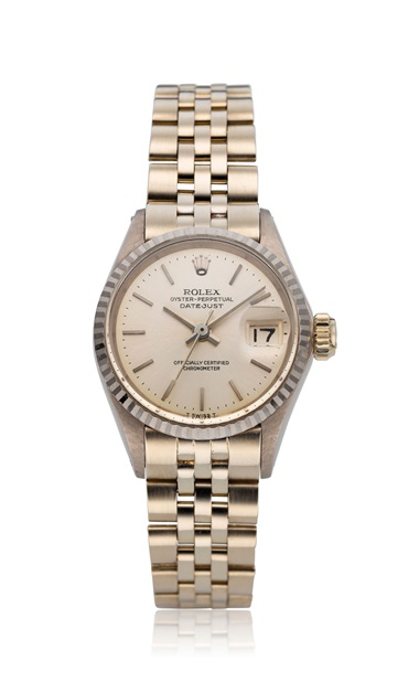Rolex, ladies' 18k Datejust, ref. 6517. Bracelet size 6.1 in  155 mm. Estimate $3,500-5,500. This lot is offered in  Christie's Watches Online The Keystone Collection, 30 July to 13 August 2019, Online