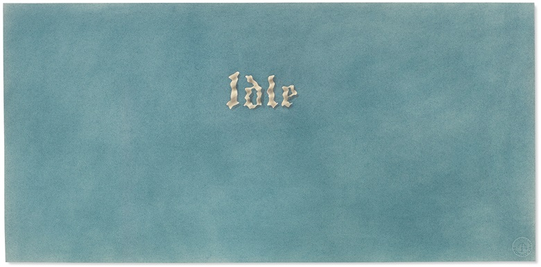 Ed Ruscha, Idle, 1976. Pastel on paper. 11⅛ x 22⅝ in (28.2 x 57.5 cm) Estimate $350,000-550,000. Offered in the Post-War and Contemporary Art Afternoon Session on 14 November 2019 at Christie's New York