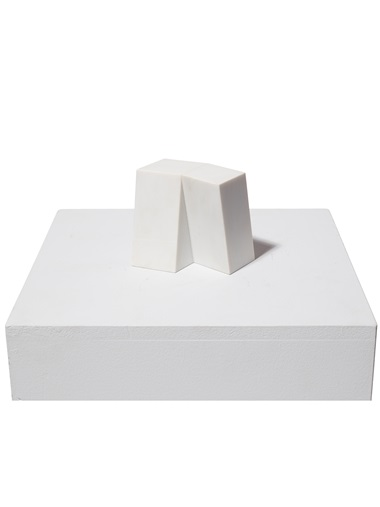 Sérgio Camargo (1930-1990), Untitled, 1979. Carrara marble. 4¾ x 4¾ x 2⅜ in (12 x 12 x 6.1 cm). Estimate $20,000-25,000. Offered in Latin American Art Online, 16-26 November 2019, Online
