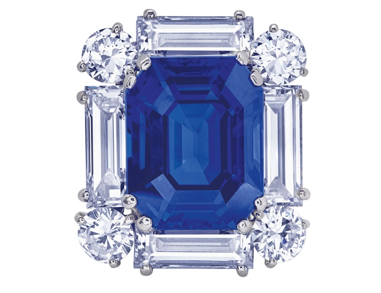 Exceptional sapphire and diamond brooch, Cartier, SSEF, 2019, report no. 106791 39.194 carats, Ceylon, no indications of heating, royal blue, appendix letter. Sold for CHF 1,995,000 on 12 November 2019 at Christie's in Geneva