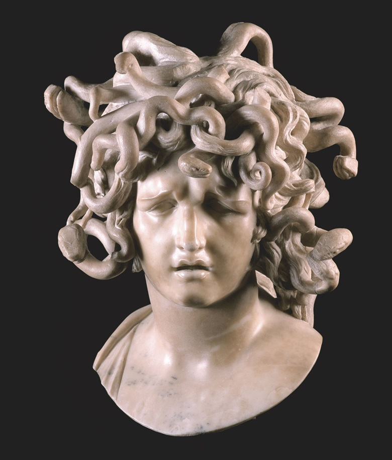 Giovanni Lorenzo Bernini, Medusa, c. 1638-1648. On loan from Musei Capitolini. Photo Andrea Jemolo