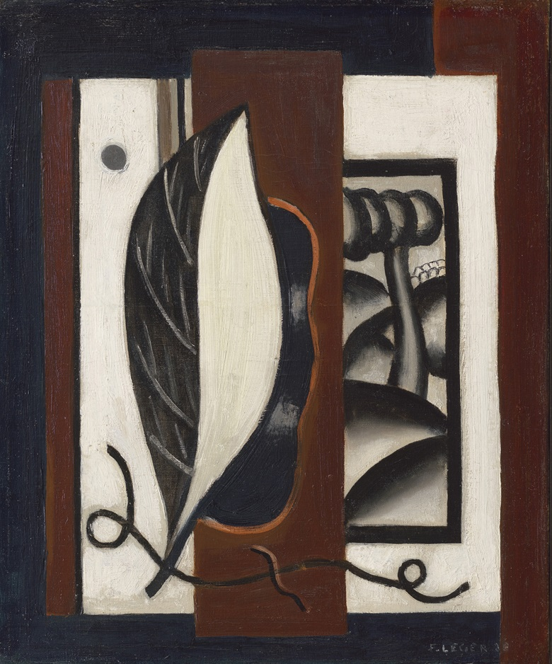 Fernand Léger (1881-1955), Composition à la feuille, 1926. Oil on canvas. 18⅛ x 15⅛ (46 x 38.3 cm). Estimate £80,000-120,000. Offered in the Impressionist and Modern Art Day Sale on 6 February 2020 at Christie's in London