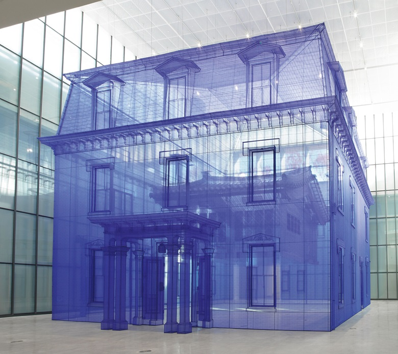 Do Ho Suh, Home within Home within Home within Home within Home, 2013. Polyester fabric, metal frame. 602.36 x 505.12 x 510.63 in (1530 x 1283 x 1297 cm). © Do Ho Suh. Courtesy the artist and Lehmann Maupin, New York, Seoul and Hong Kong
