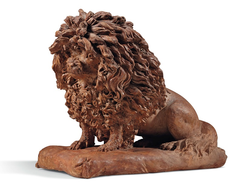 A terracotta model of a poodle, probably by Anne Damer (1748-1828), 1780-1800. 12 in (30.5 cm) high. Estimate $5,000-7,000. Offered in Dalva Brothers Parisian Taste in New York on 22 October at Christie's in New York