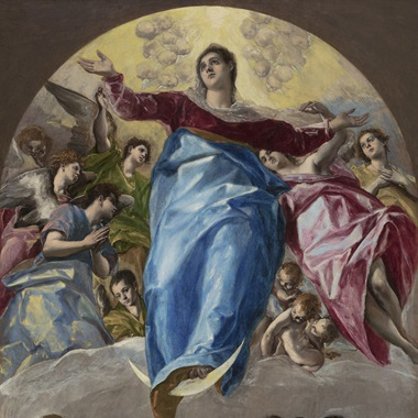 Domenikos Theotokopoulos, called El Greco, The Assumption of the Virgin, 1577-79 (detail). Oil on canvas. 403.2 x 211.8 cm. Gift of Nancy Atwood Sprague in memory of Albert Arnold Sprague. 1906.99. Courtesy of the Art Institute of Chicago