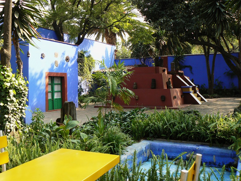 The Frida Kahlo Museum in Mexico City. Photo © Janet Mary Cook  Bridgeman Images