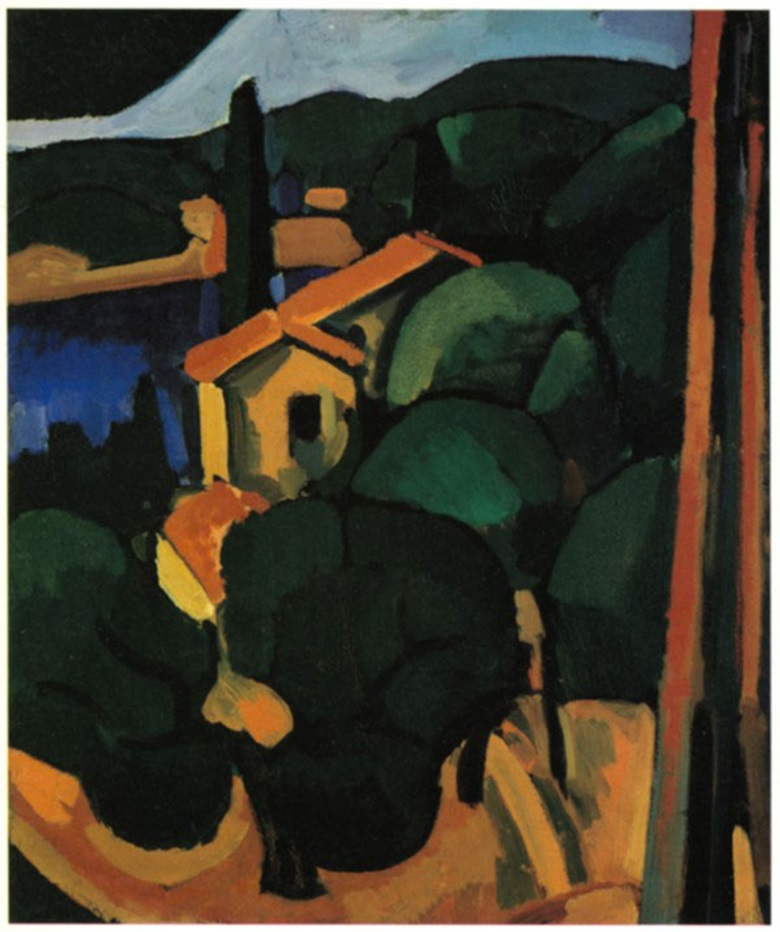André Derain, Paysage à Cassis, 1907. New Orleans Museum of Art. © 2018 Artists Rights Society (ARS), New York  ADAGP, Paris.