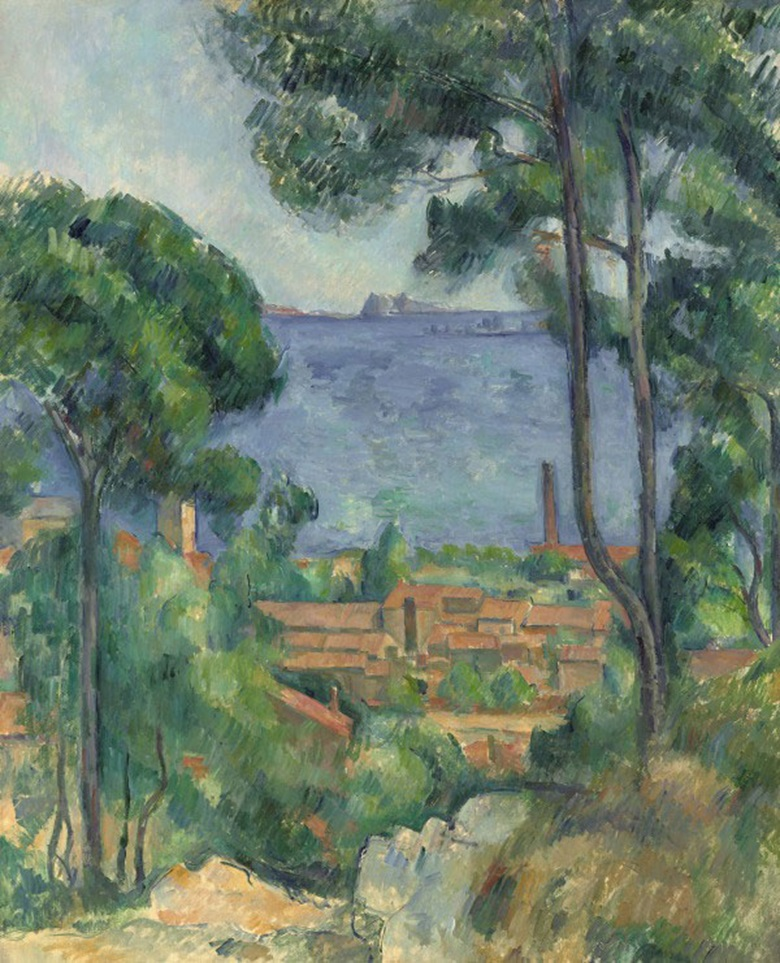 Paul Cézanne, Vue sur LEstaque et le Château dIf, circa 1883- 1885. Formerly in the Collection of Samuel Courtauld; sold, Christies London, 4 February 2015, lot 8.