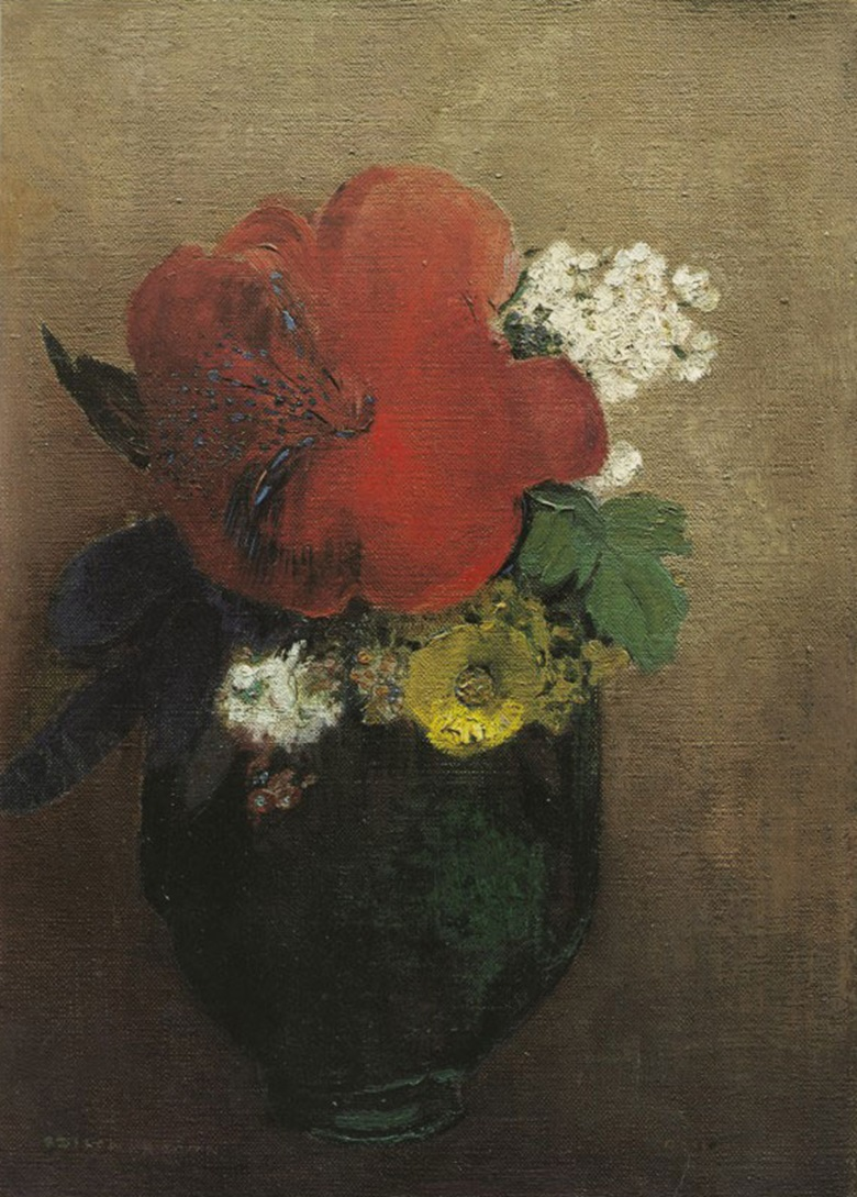 Odilon Redon, Le pavot rouge. Exhibited in the Salon d'automne, 1906. Musée d'Orsay, Paris.